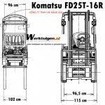 Thông số kỹ thuật của xe komatsu FD25T-16