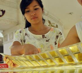 Giá USD tăng, vàng trong nước lặng sóng