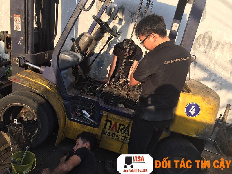 Xưởng sửa chữa xe nâng hàng tại Tân Bình