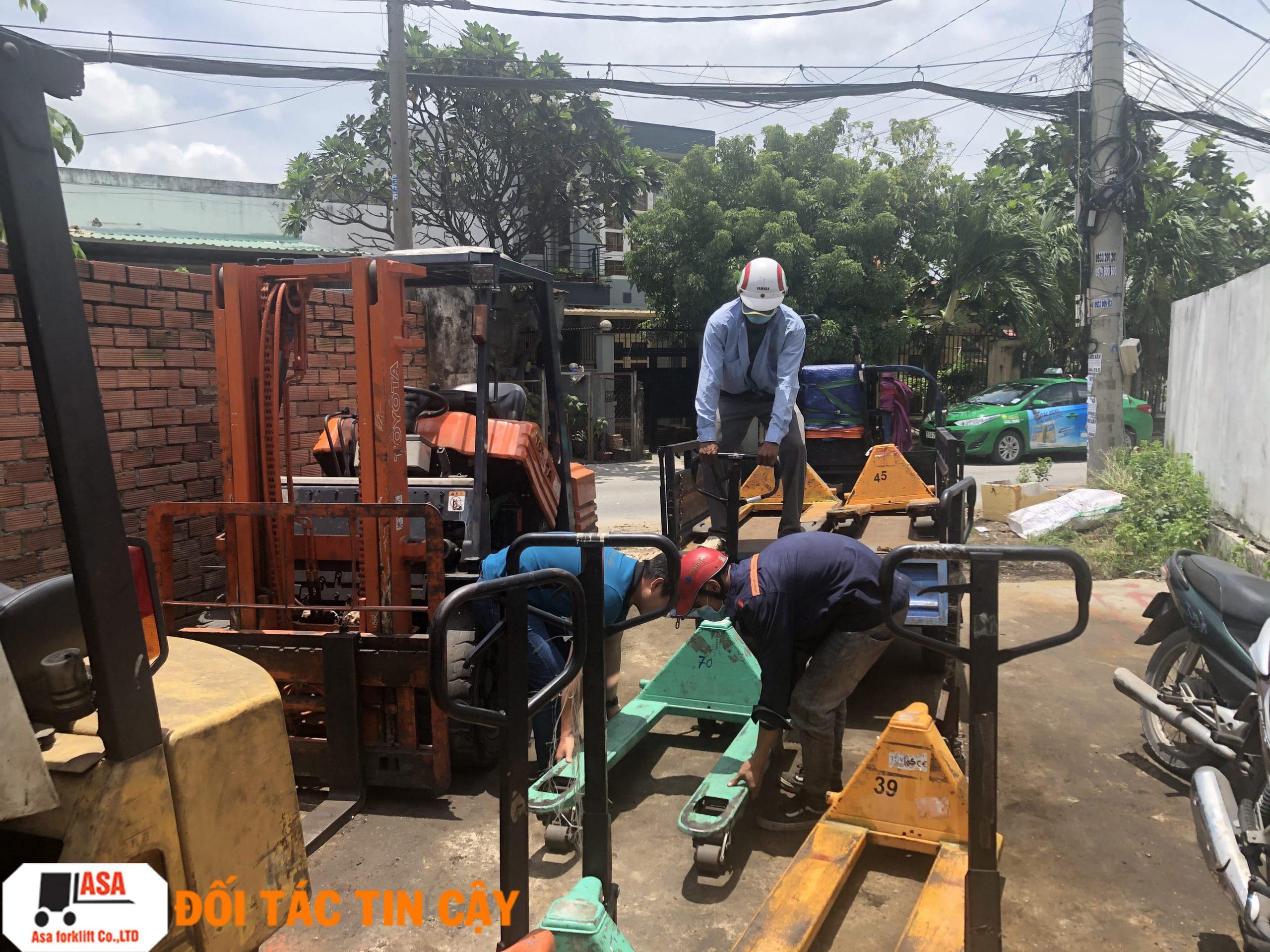 Công Ty ASA nhận sửa chữa tất cả các loại xe nâng hàng ở gò vấp