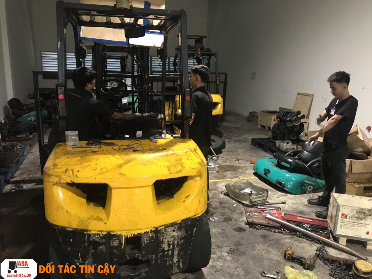 Sửa xe nâng tận nơi, sửa xe nâng nhanh nhất quận Bình Tân