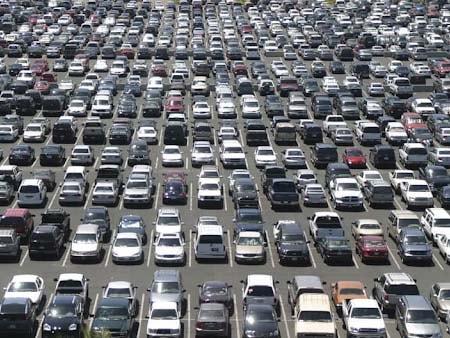 Kích thước bãi đậu xe ô tô song song