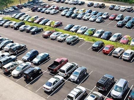 Hình ảnh bãi đỗ xe ô tô thông dụng