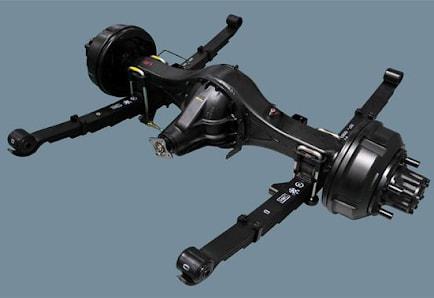 Hệ thống treo phụ thuộc có thiết kế theo kiểu các bánh xe được nối trên 1 dầm cầu liền